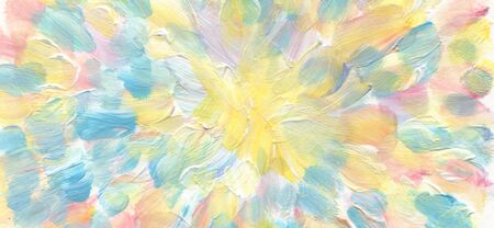 Abstract acrylic and watercolor smear painting. Canvas marble texture background. Horizontal long banner.