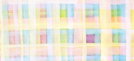 Abstract square acrylic and watercolor strip line paint background. Texture paper. Horizontal long banner.