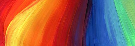 Abstrakte Acryl- und Aquarellabstrichmalerei. Leinwand Textur Hintergrund. Horizontales langes Banner.