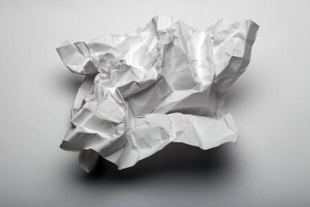 Crumpled sheet of paper. Trash concept.