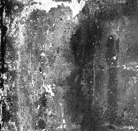 Black and white empty grunge dirty brush stroke concrete wall. Abstract background.