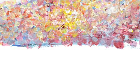 Abstract dot smear Brush stroke acrylic and watercolor painting. Color texture background. Horizontal long poster, greeting cards, web site, banner, invitation.