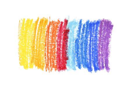 Oil pastel gradient stroke texture on white