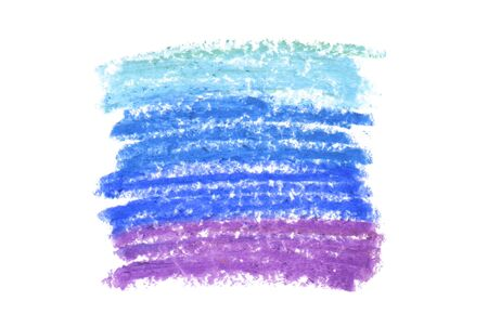 Oil pastel gradient stroke texture on white 版權商用圖片