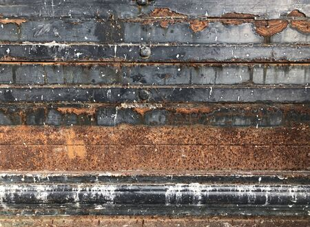 Empty grunge dirty rust texture wall. Abstract horizontal background.