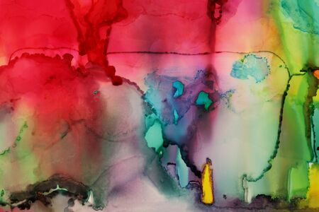 Abstract watercolor and acrylic flow blot painting. Art Color canvas marble texture background. Alcohol ink.
