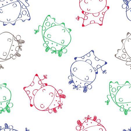 babyish animal: funny cow cartoon animals pattern