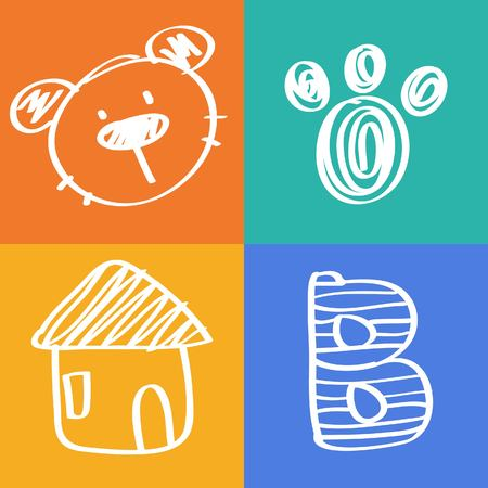 clip board: bear icon cartoon animal illustration Illustration