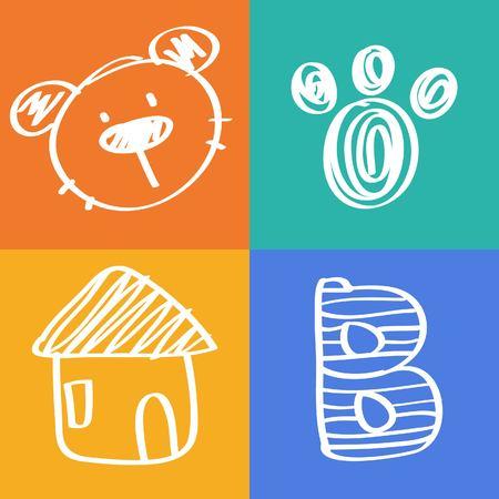 bebe a bordo: icono oso animal de dibujos animados
