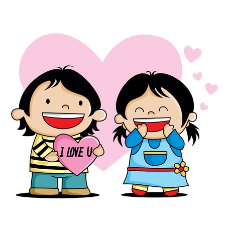 keywords adult: cartoon charakter love valentines Illustration
