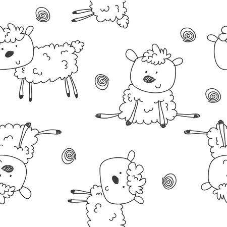 schapen patroon cartoon