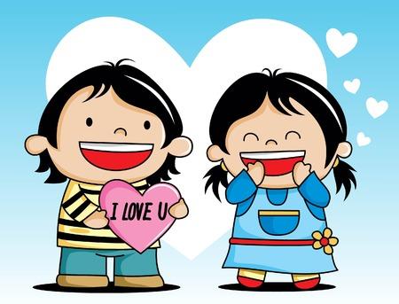 valentine s card: happy valentines day lover couple  cartoon ...