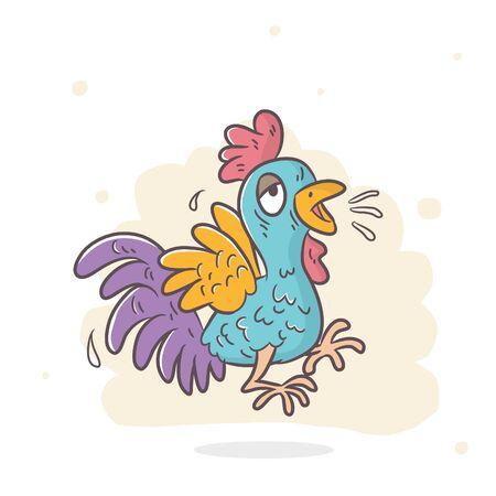 cute chicken cartoon vector, illustration 向量圖像