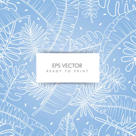 vector graphic of tropical pattern, perfect for background ready to print