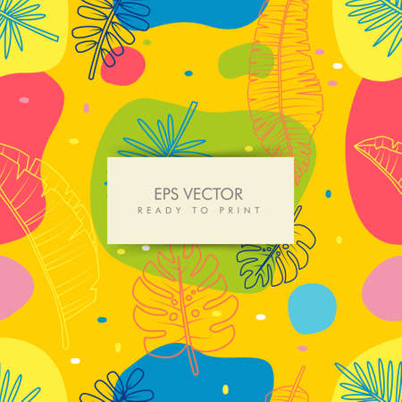 color full tropical pattern, background vector ready to print