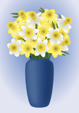 jonquil: Vector image of a spring flower - narcissuses