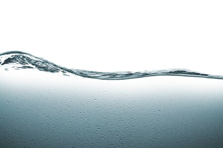 clear water flow on white background