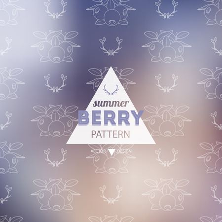 berry: Seamless berry pattern. Decorative background berry. Vector illustration