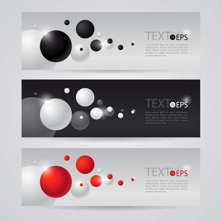 black white red: black white red with flying bubbles. Horizontal leaflet
