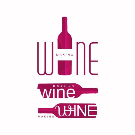 wine tasting logo vector illustration, red logotype