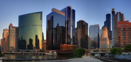 Chicago downtown panorama Stock Photo - 8613539