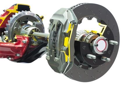 brake disc: Brake crosscut