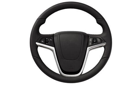 Close up image of modern steering wheel. photo