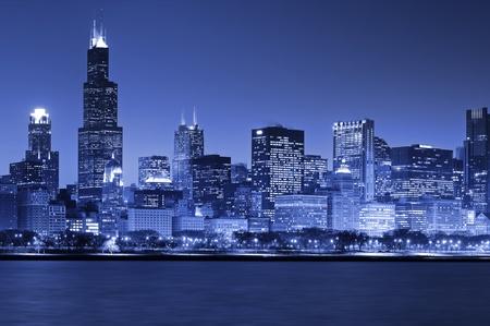 Chicago Skyline 스톡 콘텐츠