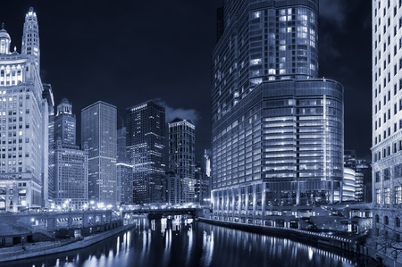 iluminado: Ciudad de Chicago