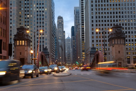 midwest usa: Street of Chicago.