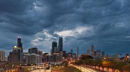 motor racing: City of Chicago Stock Photo