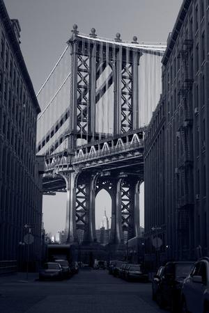 Manhattan Bridge. Close up image of Manhattan Bridge in New York City. Stock Photo