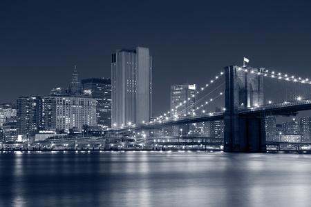 brooklyn bridge: Brooklyn Bridge. Image of Brooklyn Bridge with Manhattan skyline in the background. Stock Photo