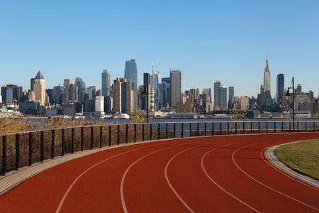 pista de atletismo: Ruta por la ciudad de Nueva York. Foto de archivo