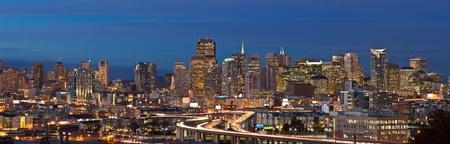 transamerica: Image of San Francisco skyline at twilight. Stock Photo