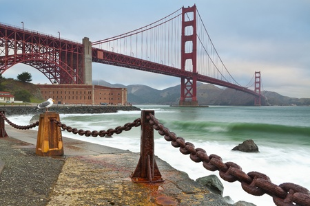 Golden Gate Bridge. Image of Golden Gate Bridge in San Francisco California photo