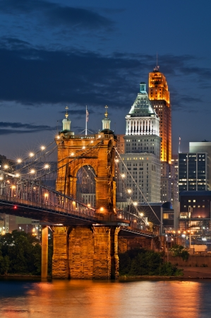 midwest usa: Cincinnati skyline . Stock Photo