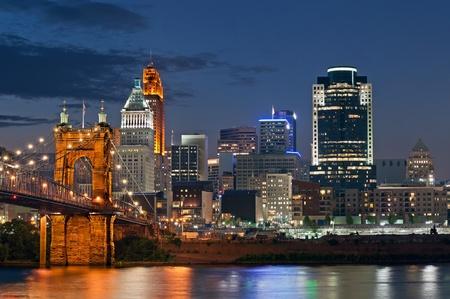 Cincinnati skyline . Stock Photo