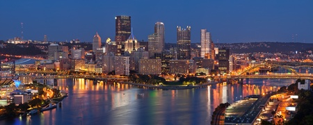 Pittsburgh skyline panorama. Stock Photo - 12695356