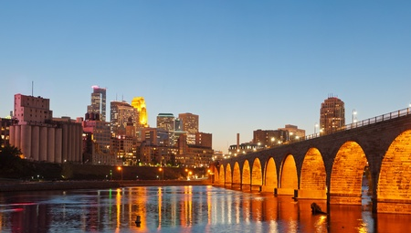 Minneapolis. Image of Minneapolis downtown at twilight. photo