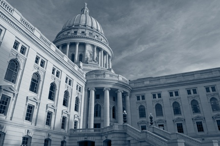 government building: State capitol building, Madison.