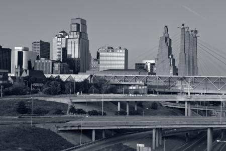missouri: Kansas City  Toned image of the Kansas City skyline