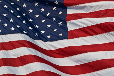 United States of America flag  Image of the american flag flying in the wind  Stock Photo