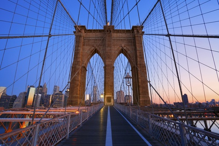 Brooklyn Bridge. Image of the famous Brooklyn Bridge at sunrise. photo