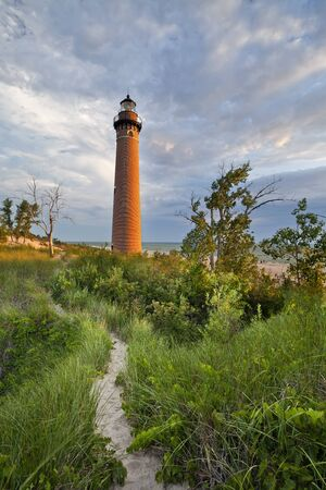 sable: Little Sable Point Lighthouse. Image of the Little Sable Point Lighthouse at sunset.