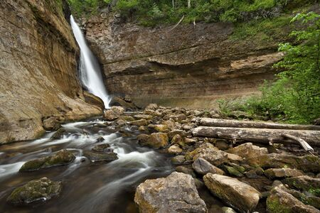 Miners Waterfall. Image of Miners Waterfall located in Pictured Rock National Shoreline, Michigan, USA. Stock Photo - 14814184