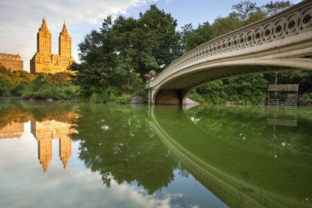 Bow Bridge. Image of Bow Bridge in Central park, New York City, USA.