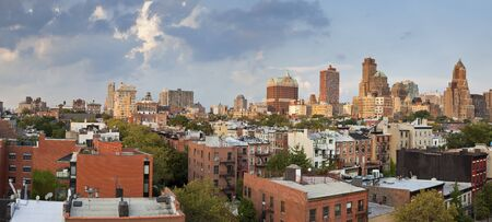 in the heights: Brooklyn Heights. Image of Brooklyn Heights at summer evening.
