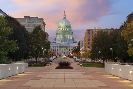 State capitol building, Madison. Image of state capitol building in Madison, Wisconsin, USA. Stock Photo - 15583683