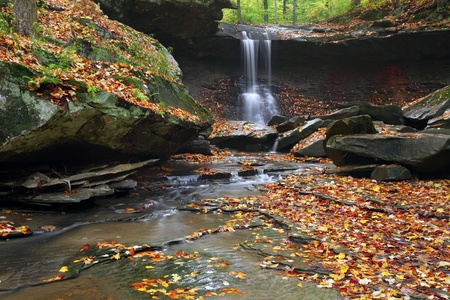 Blue Hen Falls  Image of Blue Hen Falls in autumn Stock Photo - 15828554